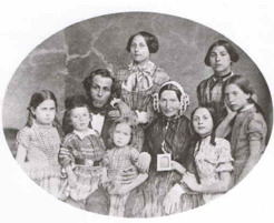 Jacobs Family, n.d. Parents: Elias and Henriette: children in order of age, Jane, Sophia, Augusta, Rebecca, Isaac, Lesser and Leah