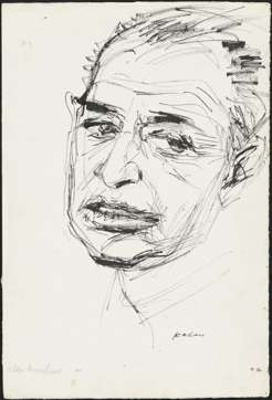 Alan Moorehead, by Louis Kahan, c.1965